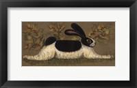 Framed Green Folk Bunny