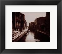 Framed Venetian Canal