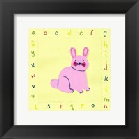 Alphabet Animals III Framed Print