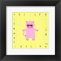 Alphabet Animals IV Framed Print