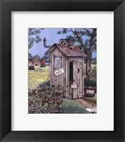 Framed Outhouse - Raccoon