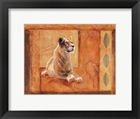 Framed Lioness in Thought