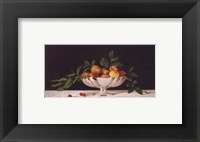 Framed Fruit In An Oval Of Silver