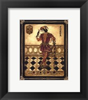 Harlequin Joker - Mini Framed Print