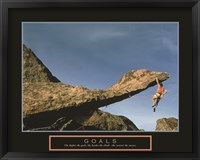 Framed Goals - Rock Climber