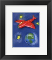 Space Plane Framed Print