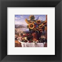 Framed Sunflower View II