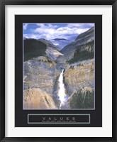 Framed Values - Takakkaw Falls