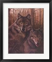 Framed Wolves Pair
