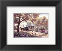 Framed Amish Country Home