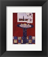 Red Bath III Framed Print