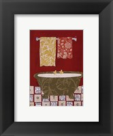 Red Bath II Framed Print