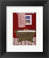 Red Bath I Framed Print