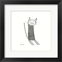 Framed Knit Cat
