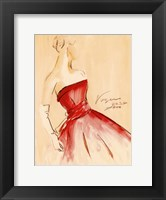 Red Dress I Framed Print