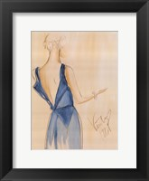 Blue Dress I Framed Print