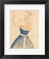 Framed Blue Dress II