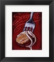 Spaghetti Meatballs Framed Print