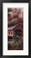 Framed Razzberry Creek Panel I