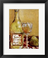 Picnic With Chardonnay Framed Print