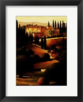 Framed Green Hills of Tuscany I