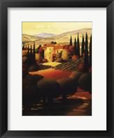 Framed Green Hills of Tuscany II