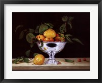 Still Life In Silver Framed Print