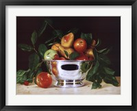 Framed Fruit In a Bowl Of Silver