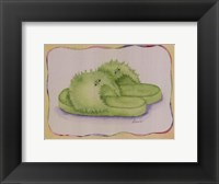 Fuzzy Lime Framed Print
