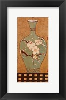 Framed Asian Vase II