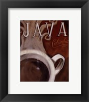 Framed Java Columbia