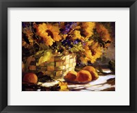 Framed Sunflowers With Purple