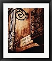 Framed Calle De Canonica
