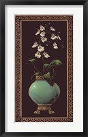 Ginger Jar With Orchids I Framed Print