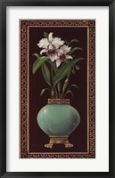 Ginger Jar With Orchids II Framed Print