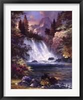 Framed Sunrise Falls