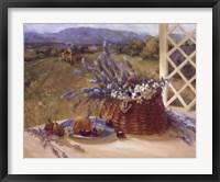 Framed Lavender Basket
