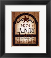 Framed Mom's Laundry