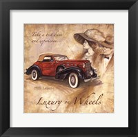 Luxury On Wheels Framed Print