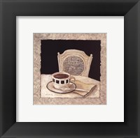 Stay For Coffee II Framed Print
