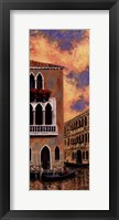Venice Sunset II Framed Print
