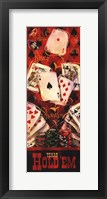 Texas Hold'em II Framed Print