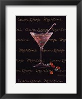 Gum Drop Martini Framed Print