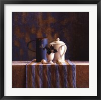 Framed Striped Still Life I