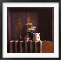 Framed Striped Still Life II