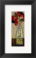 Framed Black Eyed Rosas I