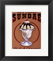Framed Hot Fudge Sundae