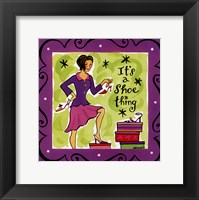 Girl Talk-Shoes Framed Print