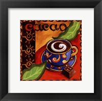 Cacao Chocolate Framed Print