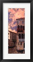 Venice Sunset I Framed Print